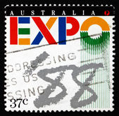 Postage stamp Australia 1988 EXPO '88, Brisbane — Stock Photo