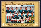Znaczek Jemen 1970 zespół z Meksyku — Zdjęcie stockowe