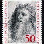 ������, ������: Postage stamp Germany 1974 Hans Holbein the Elder Painter