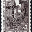 Postage stamp Austria 1978 Woodcut by Switbert Lobisser — Stock Photo