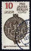 Postage stamp GDR 1986 City Seal, 1253, Berlin — Stock Photo