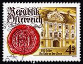 Briefmarke Österreich 1981 st. Veit ein der Glan, Rathaus — Stockfoto
