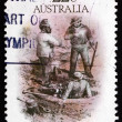 Postage stamp Australi1981 License Inspected, by S. T. Gill — Stock Photo #41417693