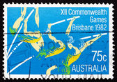 Postage stamp Australia 1982 Pole Vault — Stock Photo