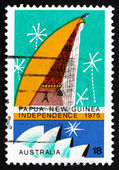 Postage stamp Australia 1975 Spirit House, Papua New Guinea — Stock Photo