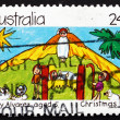Postage stamp Australia 1983 Nativity Scene, Christmas — Stock Photo