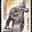 Постер, плакат: Postage stamp Belgium 1970 The Mason by Georges Minne