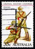 Postage stamp Australia 1985 Victorian Mounted Rifles, Uniforms — Stock Photo