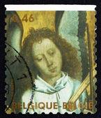 天使演奏小号海洋的邮票比利时 2006年头 — 图库照片