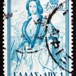 Постер, плакат: Postage stamp Greece 1956 Queen Amalia of Greece