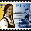 Postage stamp Iceland 1996 HalldorBjarnadottir, Educator — Stock Photo #41571557