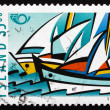 Postage stamp Iceland 1998 Sailboats — Stock Photo #41571667