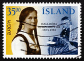 Postage stamp Iceland 1996 Halldora Bjarnadottir, Educator — Stock Photo