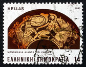 Postage stamp Greece 1983 Battle between Ajax and Hector — Stock Photo