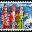 Postage stamp Iceland 1997 Magi, Christmas — Stock Photo #41626997