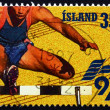 Postage stamp Iceland 1997 Hurdles, Europegames — Stock Photo #41627263