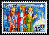 Postage stamp Iceland 1997 Magi, Christmas — Stock Photo