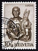 Postage stamp Switzerland 1961 St. Luke and Winged Ox, Zug — Stock Photo