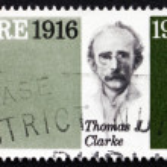 Постер, плакат: Postage stamp Ireland 1966 Thomas James Clarke Revolutionary