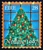 Postage stamp Ireland 1997 Christmas Tree, Christmas — Stock Photo