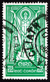 Postage stamp Ireland 1943 St. Patrick and Paschal Fire — Stock Photo