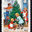 Postage stamp Finland 1981 Decorating Tree, Christmas — Stock Photo #41822531