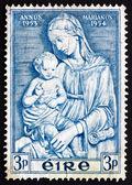 Postzegel ierland 1954 madonna door della robbia — Stockfoto