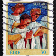 Stock Photo: Postage stamp Ireland 1998 Choir Singers, Christmas