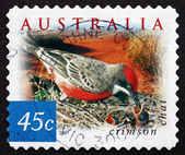 Postage stamp Australia 2001 Crimson Chat, Bird — Stock Photo