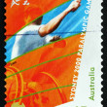 Postage stamp Australia 2000 Wheelchair Tennis, Sydney — Stock Photo