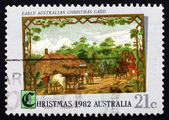Postage stamp Australia 1982 Early Australian Christmas Card, 18 — Stock Photo
