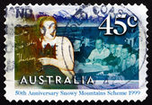 Postage stamp Australia 1999 English Class for Migrant Workers — 图库照片