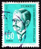 Postage stamp Turkey 1964 Salih Zeki, Ottoman Mathematician — Stock Photo