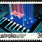 Postage stamp Australia 1987 National Flag — Stock Photo
