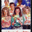Postage stamp Australia 1987 Six Youths, Christmas Carolers — Stock Photo