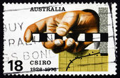 Postage stamp Australia 1976 Survey Rule, Graph — Stock Photo