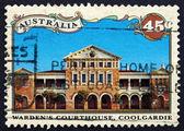Postage stamp Australia 1992 Wardens Courthouse, Coolgardie — Stock Photo