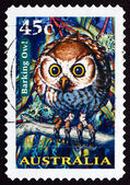 Postage stamp Australia 1997 Barking Owl, Nocturnal Bird — Stock Photo