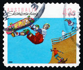 Postage stamp Australia 1990 Skateboarding, Sport — ストック写真