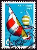 почтовая марка россии 1968 яхты — Стоковое фото