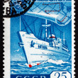 Stock Photo: Postage stamp Russi1959 Oceanographic Ship Vityaz