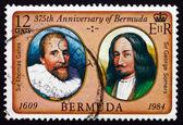 Poštovní známka bermudy 1984 thomas gates, george somers — Stock fotografie