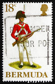 Postage stamp Bermuda 1988 Devonshire Parish Militia, 1812 — Stock Photo