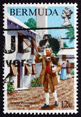 Postage stamp Bermuda 1984 Joseph Stockdale, English Publisher — Stock Photo