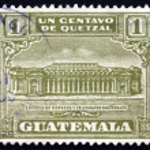 Постер, плакат: Postage stamp Guatemala 1927 General Post Office in Guatemala Ci