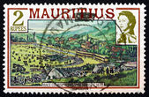 Postage stamp Mauritius 1989 Champ de Mars Race Course, 1870 — Stock Photo