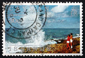 Postage stamp Cayman Islands 1991 Blowholes, Island Scene — Stock Photo