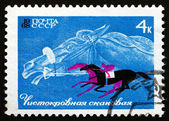 Postage stamp Russia 1968 Thoroughbread and Horse Race — Stock Photo