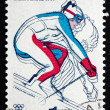 Postage stamp Czechoslovakia 1980 Downhill Skiing — Stock Photo