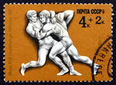 Postage stamp Russia 1977 Greco-Roman Wrestling — Stock Photo